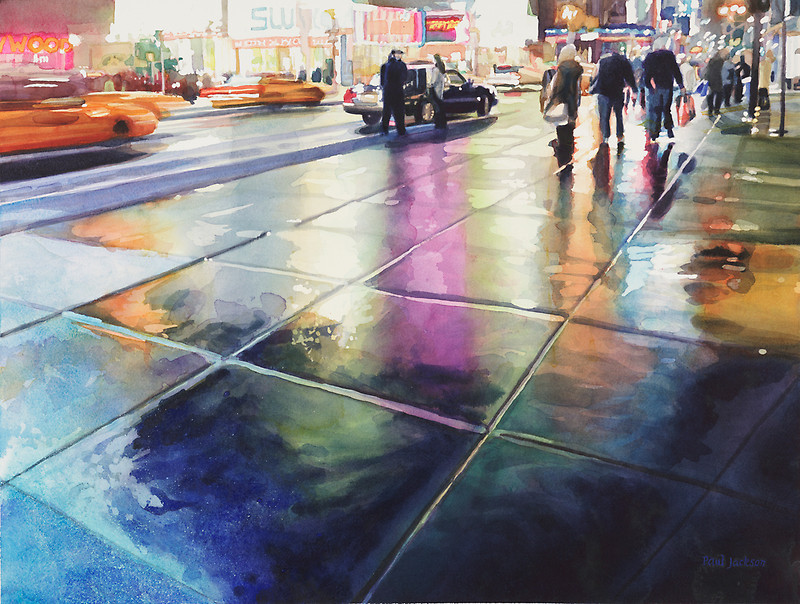 watercolor streets